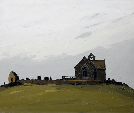 Sir Kyffin Williams R.A. (British, 1918-2006) 'Llanryhwydrus - (the artist's grandfather's church)'