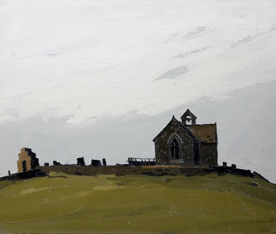Sir Kyffin Williams R.A. (British, 1918-2006) 'Llanryhwydrs - (the artist's grandfather's church)'