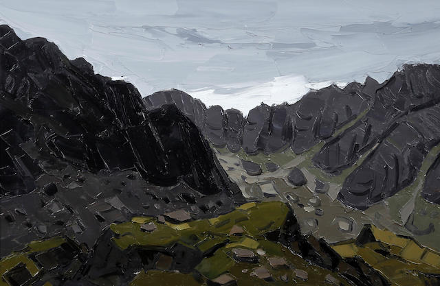 Sir Kyffin Williams R.A. (British, 1918-2006) 'Clogwyn Y Geifr'