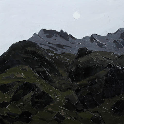 Sir Kyffin Williams R.A. (British, 1918-2006) 'Moon over Crib Goch'