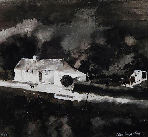 John Knapp-Fisher (British, born 1931) 'Slate Yard Porthgain'