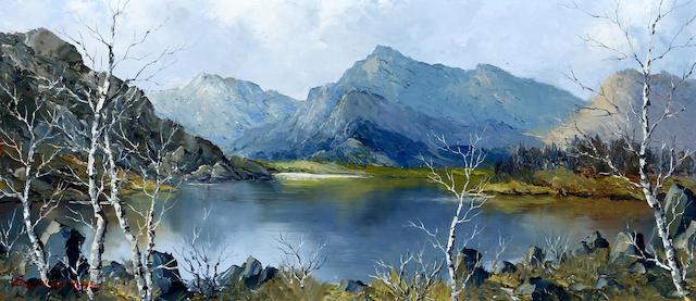 Charles Wyatt Warren (British, 1908-1983) 'Snowdon from Llyn Padarn'