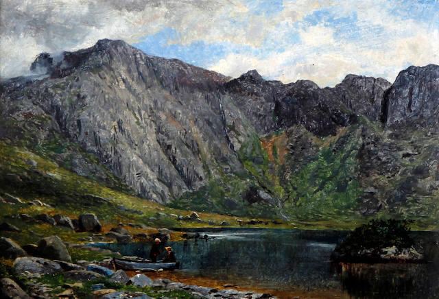 Benjamin Williams Leader, RA (British, 1831-1923) 'Llyn Idwal North Wales'