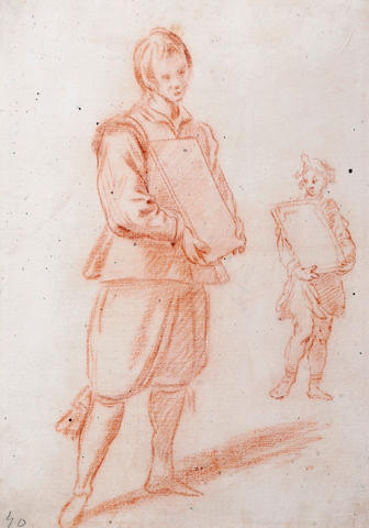 Follower of Jacopo Confortini (Italian, 1602-1672) Two standing figures