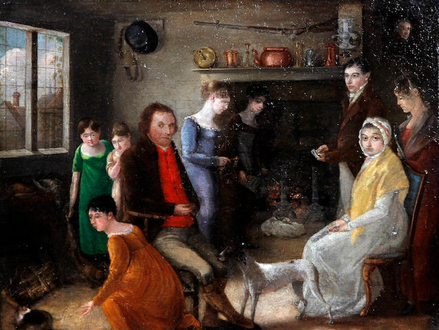 English School, (circa 1810) 'Family of John & Ursula Cragg'