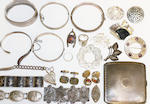 A collection of old costume, paste and silver jewellery (a lot)