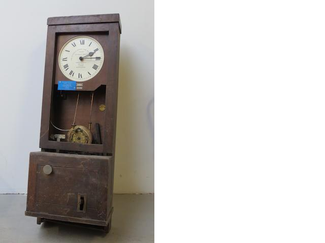 A Gledhill-Brook patented Time Recorder clocking in clock, from the Morris Motors Ltd Cowley Factory, Oxford,