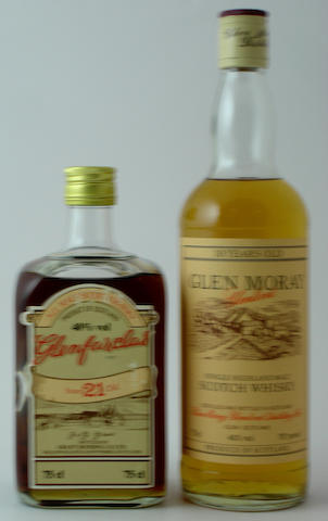 Glenfarclas-21 year old<BR /> Glen Moray-10 year old