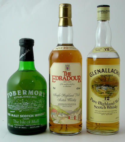 Tobermory<BR /> The Edradour-10 year old<BR /> Glenallachie-Glenlivet-12 year old-1970