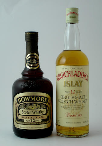 Bowmore-12 year old<BR /> Bruichladdich-10 year old