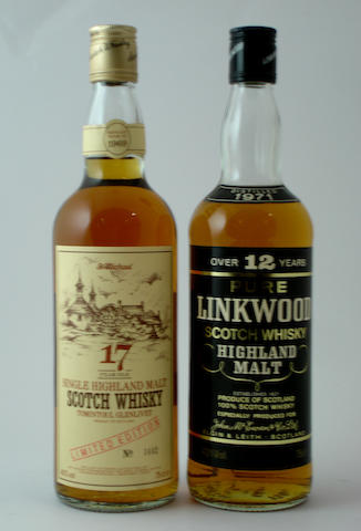 Tomintoul-Glenlivet-17 year old-Pre 1969<BR /> Linkwood-12 year old-1971