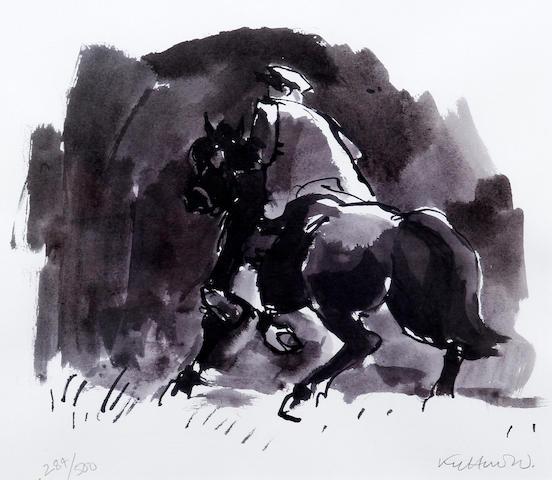 Sir Kyffin Williams R.A. (British, 1918-2006) 'Horse Rider Patagonia'