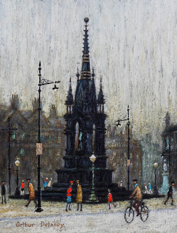 Arthur Delaney (British, 1927-1987) Central Square, Manchester
