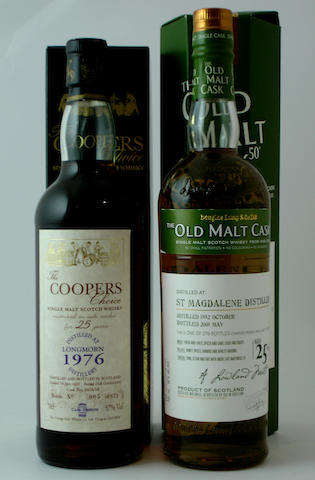 Longmorn-25 year old-1976<BR /> St. Magdalene-25 year old-1982