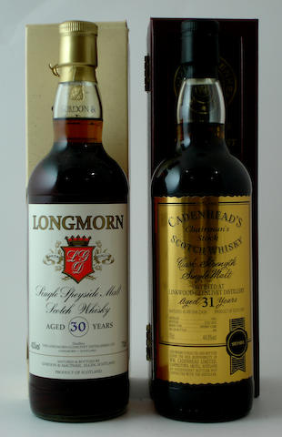 Longmorn-30 year old<BR /> Linkwood-Glenlivet-31 year old-1981