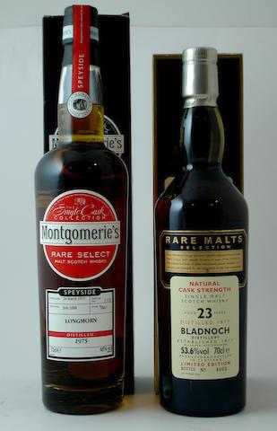 Longmorn-1975<BR /> Bladnoch-23 year old-1977