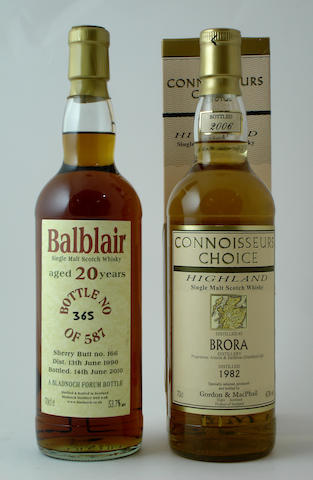 Balblair-20 year old-1990<BR /> Brora-1982