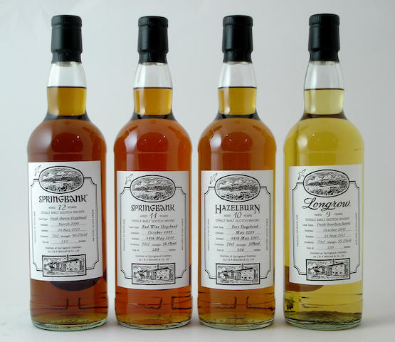 Springbank-12 year old-2000<BR /> Springbank-11 year old-1999<BR /> Hazelburn-10 year old-2001<BR /> Longrow-9 year old-2002