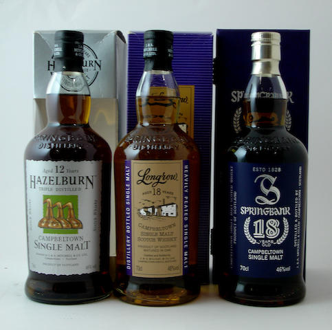 Hazelburn-12 year old<BR /> Longrow-18 year old<BR /> Springbank-18 year old