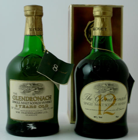 The Glendronach-8 year old<BR /> The Glendronach-12 year old