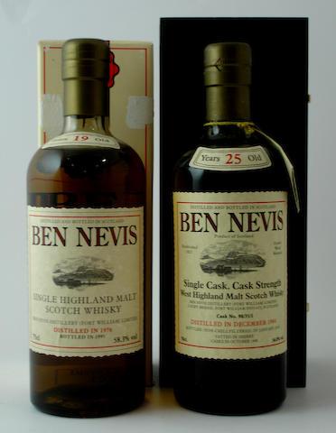 Ben Nevis-19 year old-1976<BR /> Ben Nevis-25 year old-1984