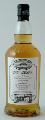 Springbank HMS Campbeltown-10 year old