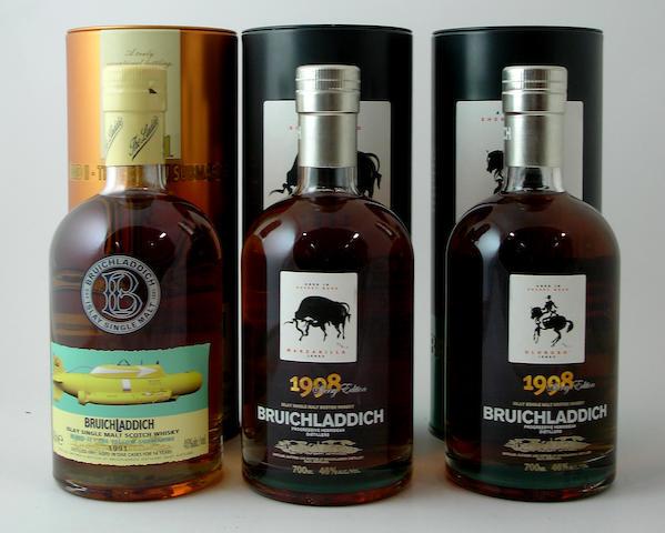 Bruichladdich-14 year old-1991<BR /> Bruichladdich Manzanilla-1998<BR /> Bruichladdich Oloroso-1998