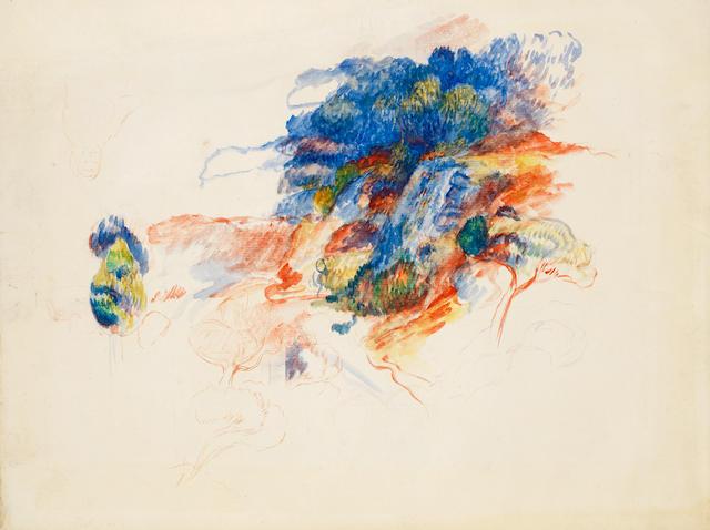 Pierre-Auguste Renoir (French, 1841-1919) Route à Cagnes