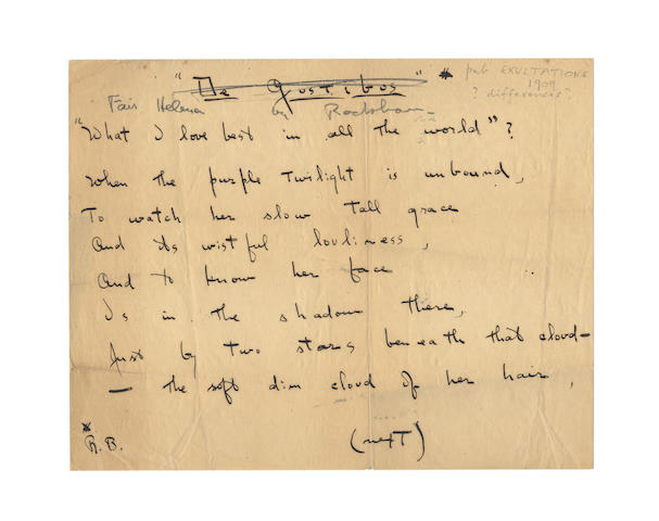 POUND, EZRA (1885-1972. American poet)