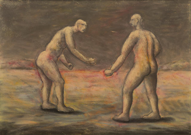 Peter Booth (born 1940) Two Figures 1986
