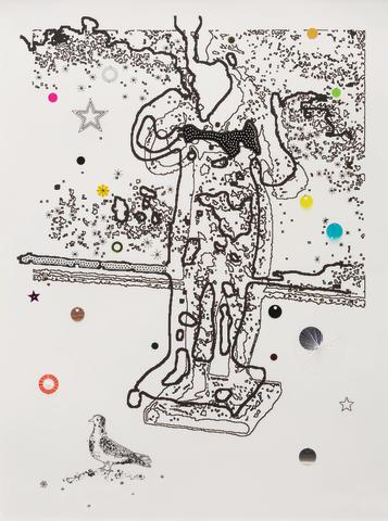 Louise Weaver (born 1966) Ghost Feeding a Bird 2001-2002