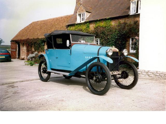 The ex-Violette Morris, works team car,1922 Benjamin Type B Cyclecar  Chassis no. 1951 Engine no. 1951