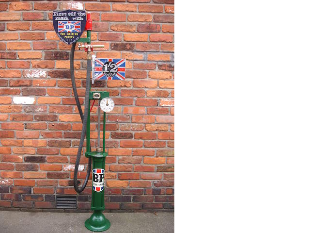 An early Gilbert & Barker model 281 hand-operated petrol pump,