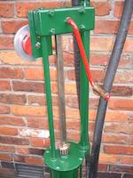 An early Gilbert & Barker model 281 hand-operated petrol pump,