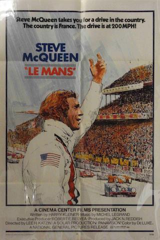 A Steve McQueen 'Le Mans' film poster,