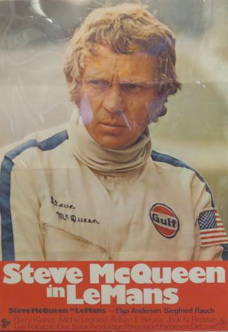 A Steve McQueen in Le Mans, Cinema Centre Films poster,