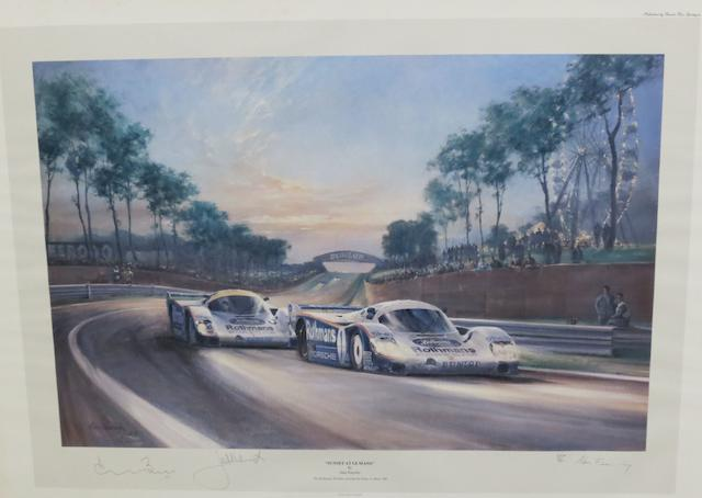 'Sunset at Le Mans' after Fearnley,