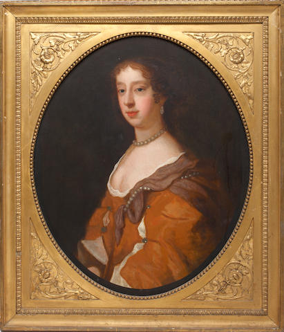 Follower of Sir Peter Lely (British, 1618-1680) Portrait of a lady, bust length, purported to be Katherine Leyttelton; and another portrait of a lady,