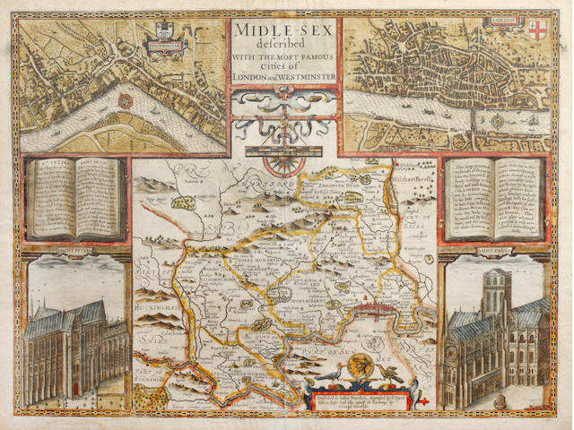 MIDDLESEX SPEED (JOHN), Midle-sex Described with the most Famous Cities of London and Westminster, [1627, or later]