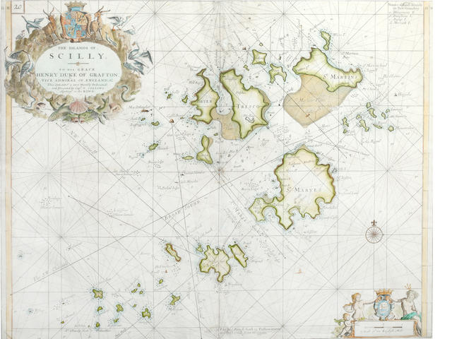 CORNWALL COLLINS (GREENVILLE) The Islands of Scilly, [1693, but c.1770]