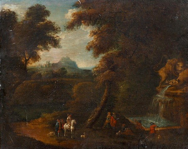 Circle of Pieter Bout (Brussels 1658-1719) Italianate landscape