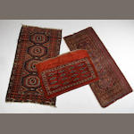 A Belouch rug and two Tekke rugs