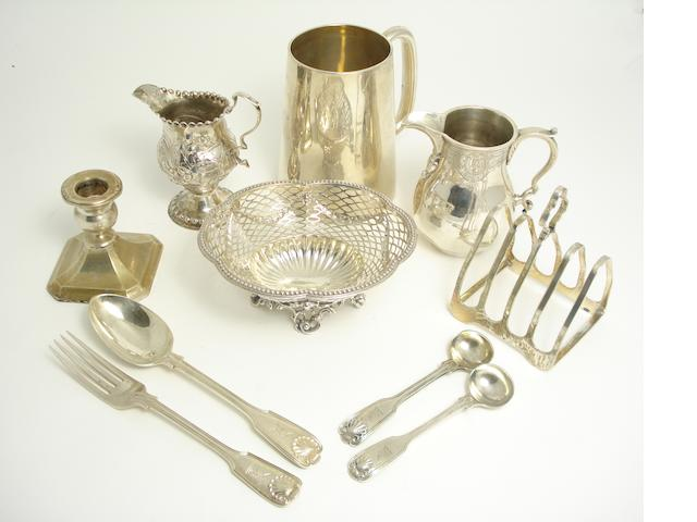 A collection of silver various makers and dates  (10)