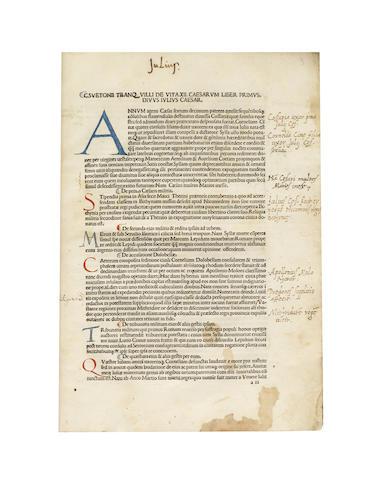 SCRIPTORES Scriptores Historiae Augustae, 2 parts in one vol., Venice, 1490