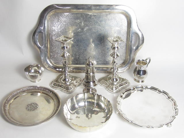 A collection of silver various dates and makers