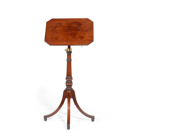 A Regency mahogany telescopic reading table