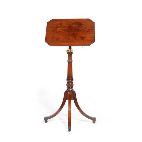 A Regency mahogany telescopic reading table