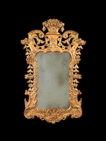 A George III Irish carved giltwood mirror