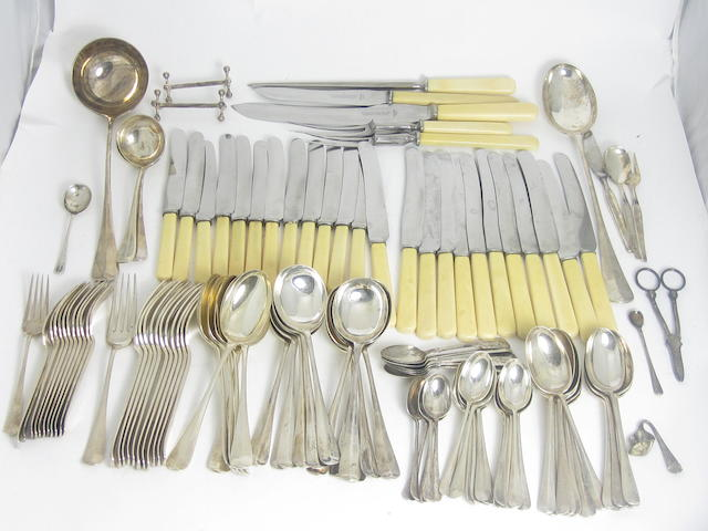 A canteen of silver flatware by C.Bradbury & Sons Ltd, Sheffield 1920/21