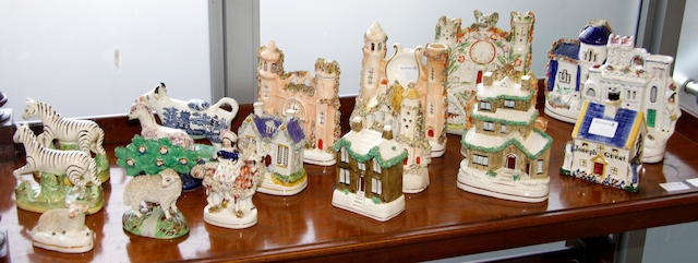 A collection of Staffordshire pottery 19th and early 20th Century,